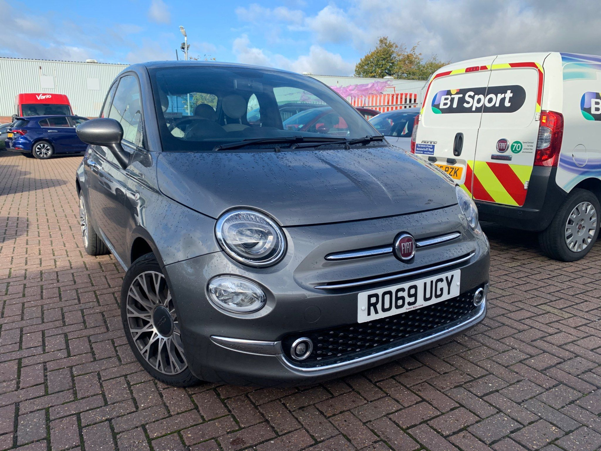 Used Fiat 500 Petrol Grey 3dr 2019 For Sale In Slough Used Approved Fiat