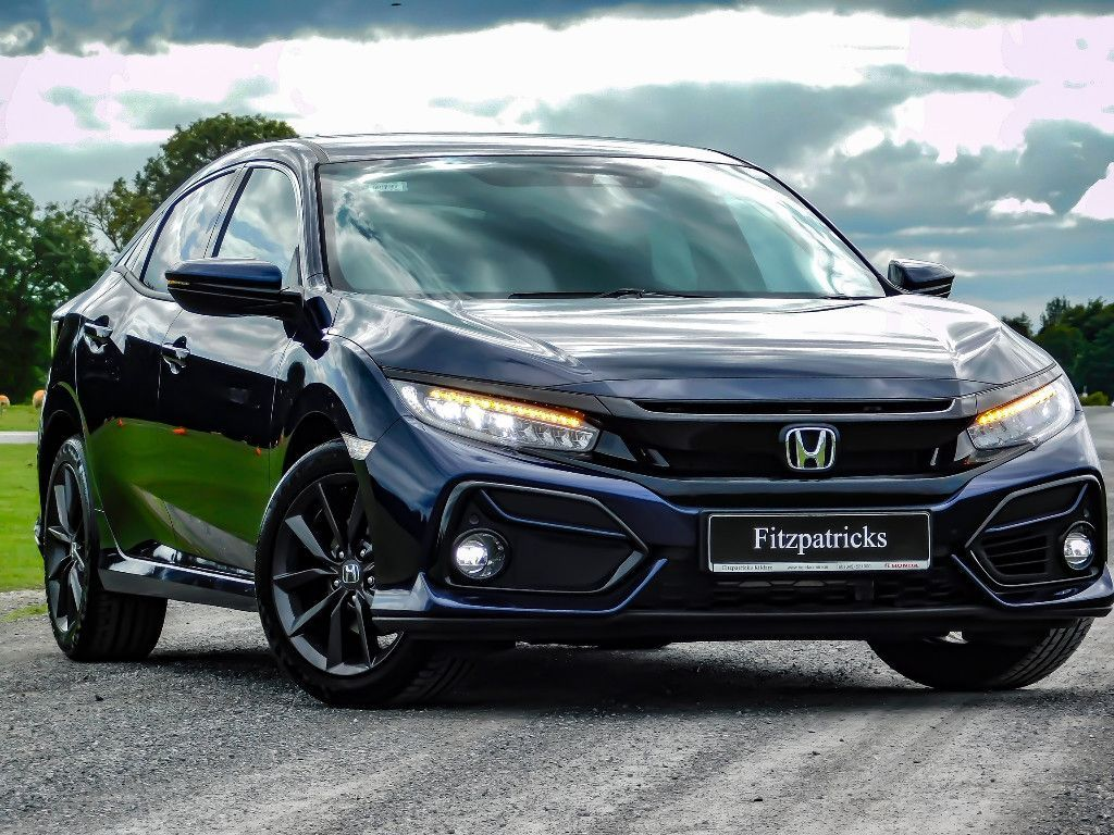 Honda Civic 2021 model in Obsidian Blue - DTEC Turbo Hatch