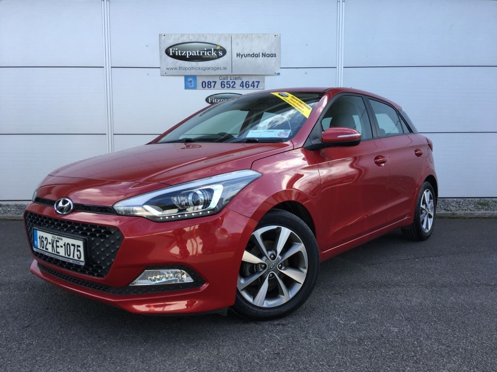 Hyundai i20 New In Stock - Naas Branch- 1.2 DELUXE Model A/C, Bluetooth, Alloys . Passion red Metallic