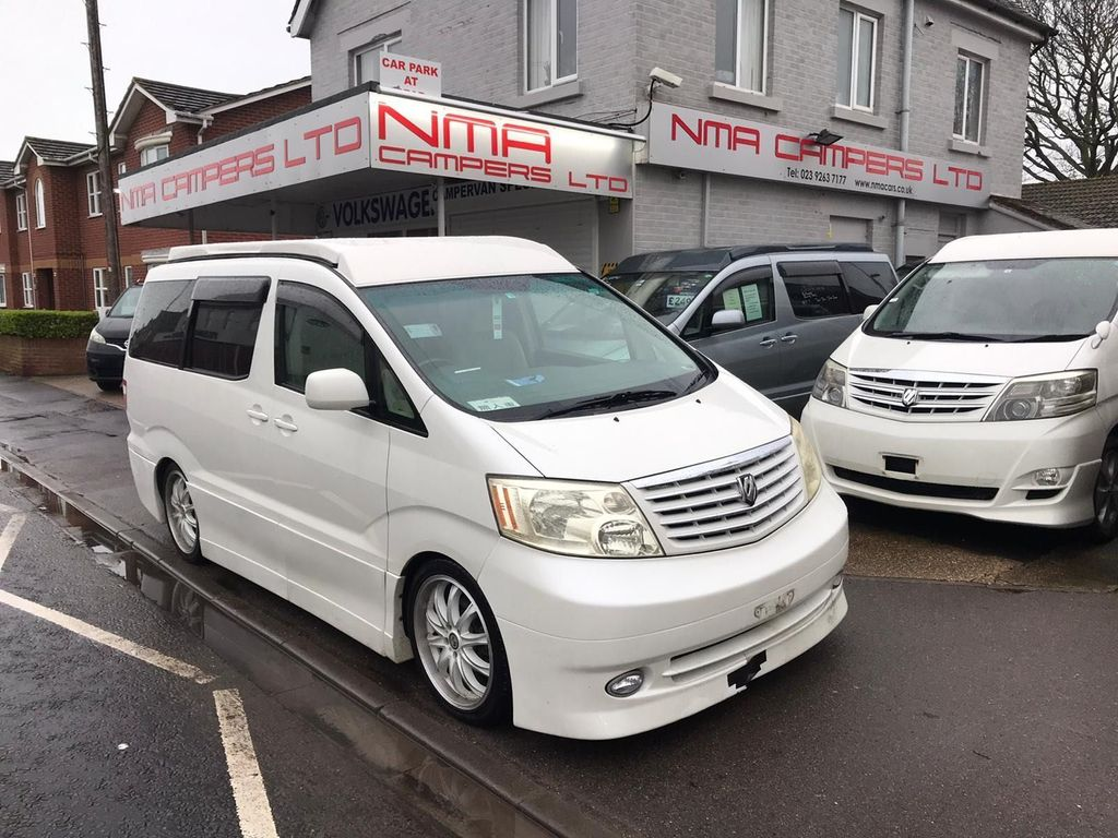 Toyota Alphard MPV campervan with pop top roof