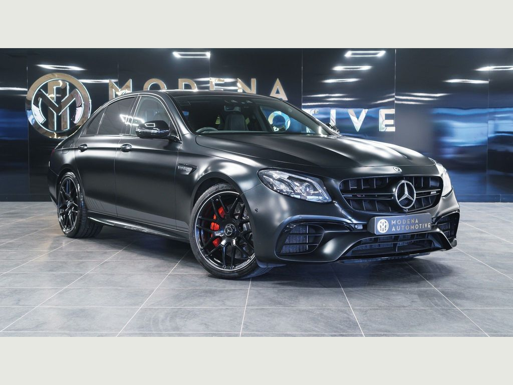 Mercedes-Benz E Class Saloon 4.0 E63 BiTurbo V8 AMG S Edition 1 SpdS MCT 4MATIC+ (s/s) 4dr