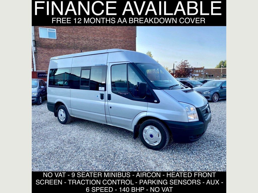 Ford Transit Minibus 2.2 TDCi 300 Medium Roof Shuttle Bus M 4dr (9 Seats, MWB)