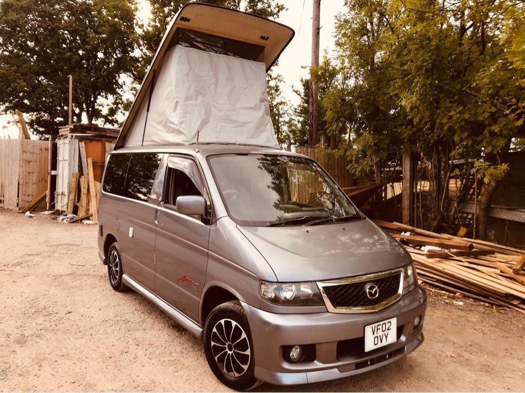 Mazda BONGO POP TOP 4 BERTH FULL SIDE CAMPER Motorhome Conversion 2.5 V6 Petrol LPG 47 inch BED 35K
