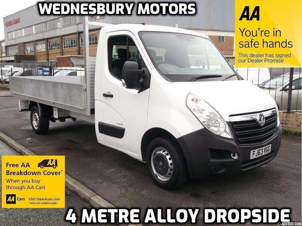 Vauxhall Movano Chassis Cab 4 Metre Alloy Dropside