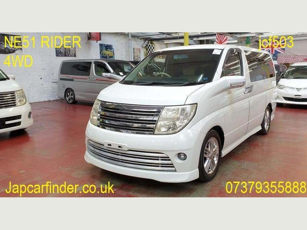 Nissan Elgrand MPV Rider Autech 4WD leather curtains p door