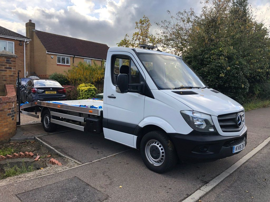 Mercedes-Benz Sprinter Vehicle Transporter 2.1 CDI 314 Chassis Cab 2dr (EU6, LWB)