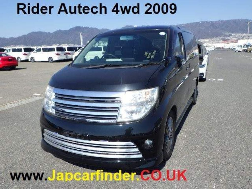 Nissan Elgrand MPV Rider Autech 4WD leather recliner PDoors