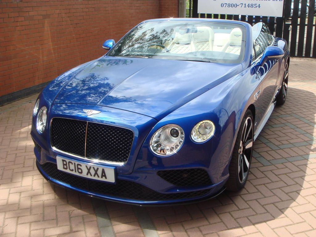 BENTLEY CONTINENTAL Convertible 4.0 V8 GTC S Convertible 2dr Petrol Auto 4WD (528 ps)