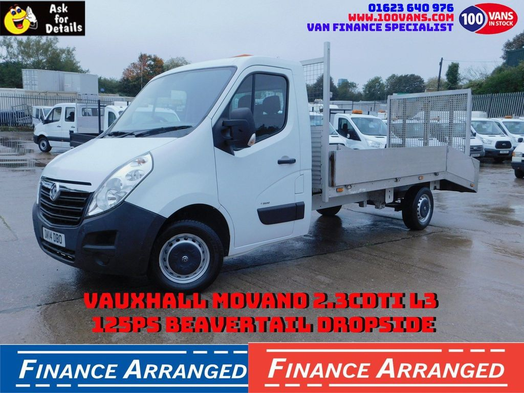 Vauxhall Movano Dropside 2.3CDTI L3 125PS BEAVERTAIL DROPSIDE