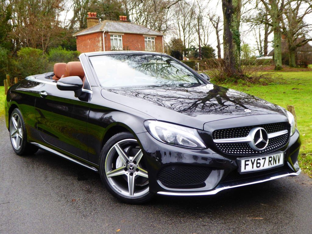 Mercedes-Benz C Class Convertible 2.0 C200 AMG Line Cabriolet G-Tronic+ (s/s) 2dr