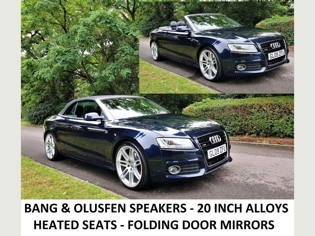 Audi A5 Cabriolet Convertible 3.0 TDI S line Cabriolet S Tronic quattro 2dr