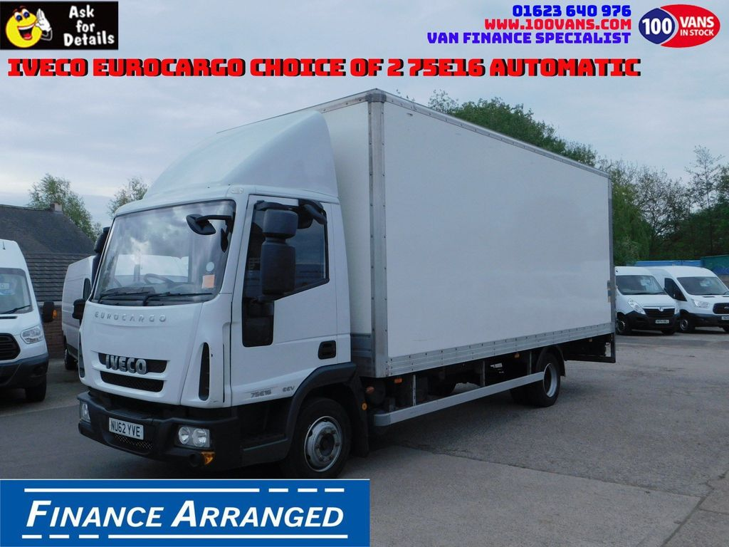 Iveco Eurocargo Box Van CHOICE OF 2 75E16 AUTOMATIC
