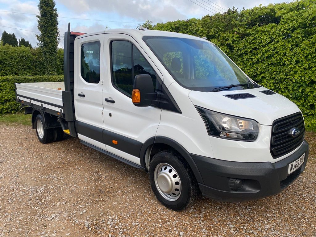 Ford Transit Dropside 2.0 350 EcoBlue Double Cab Chassis Cab RWD L4 H1 EU6 4dr (DRW)