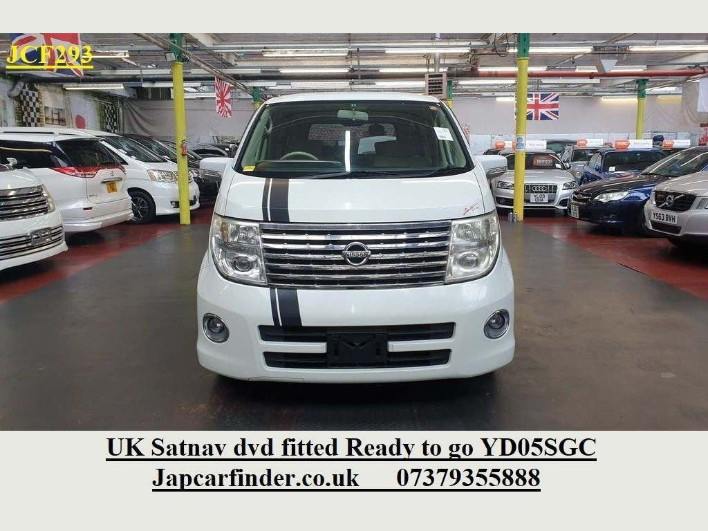 Nissan Elgrand MPV UK Satnav Dvd 8 seater Ready to go