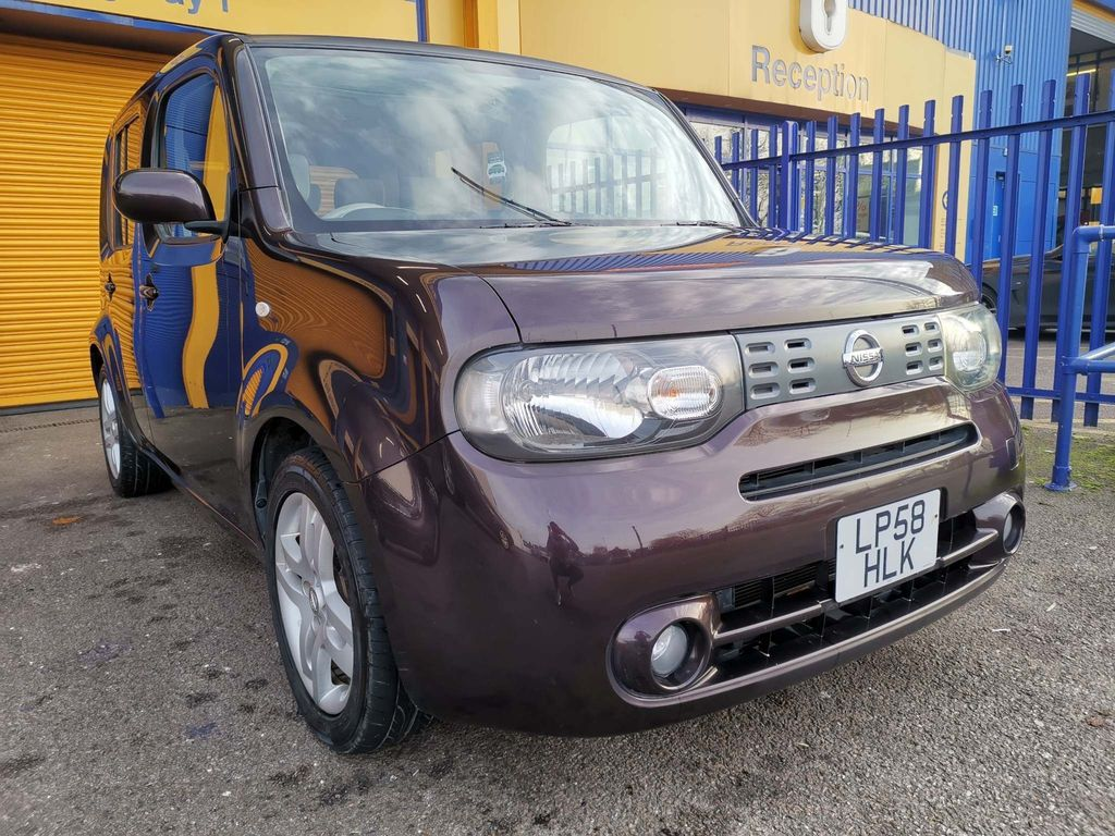 Nissan Cube Hatchback 1.5 Automatic Metallic Purple Glass Roof