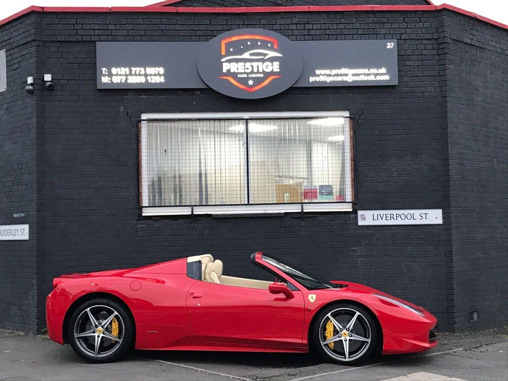 Ferrari 458 Convertible 4.5 Spider Auto Seq 2dr