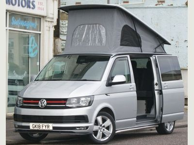 Volkswagen Transporter Campervan T6 2.0TDi EURO6 SWB 5 SEAT 4 BERTH CAMPERVAN HIGHLINE WITH REIMO ELEVATING ROOF