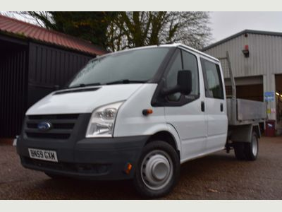 Ford Transit Chassis Cab 2.4 TDCi 350 Duratorq Crewcab Chassis L 4dr (DRW, LWB)