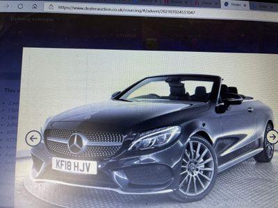 Mercedes-Benz C Class Convertible 2.0 C200 AMG Line (Premium Plus) Cabriolet G-Tronic+ (s/s) 2dr