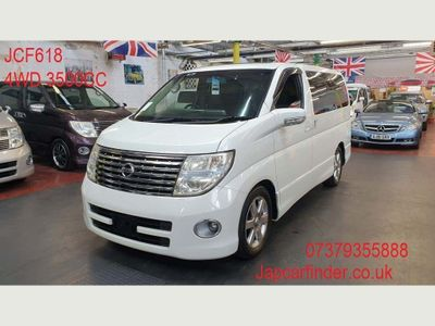 Nissan Elgrand MPV 4WD HIGHWAYSTAR CURTINS SUNROOF CAM DVD