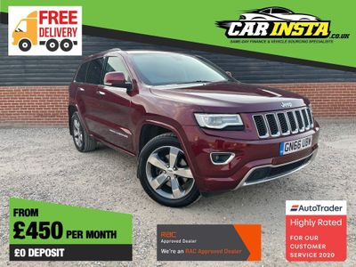 Jeep Grand Cherokee SUV 3.0 CRD Overland Auto 4WD (s/s) 5dr