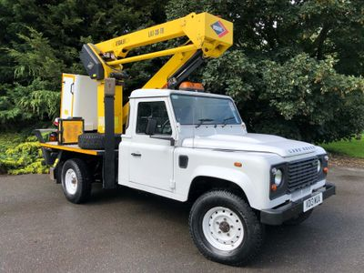 Land Rover Defender 130 Chassis Cab 2.2 Versalift 14.3m Cherry Picker FSH