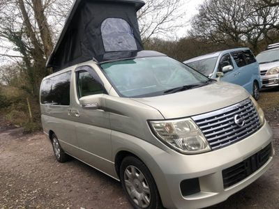 Nissan ELGRAND POP TOP 4 BERTH NEW FULL SIDE CONVERSION Campervan Camper RUST FREE LOW MILEAGE 30K