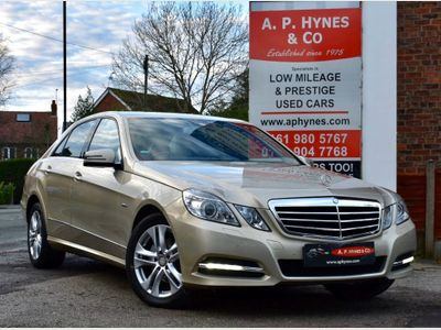 Mercedes-Benz E Class Saloon 2.1 E220 CDI BlueEFFICIENCY Edition 125 G-Tronic (s/s) 4dr
