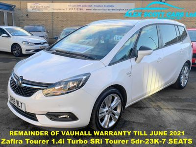 Vauxhall Zafira Tourer MPV 1.4i Turbo SRi Tourer 5dr