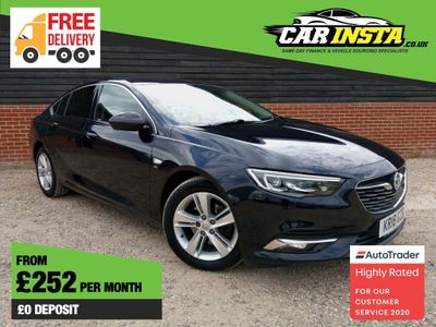 Vauxhall Insignia Hatchback 1.6 Turbo D ecoTEC BlueInjection Elite Nav Grand Sport (s/s) 5dr
