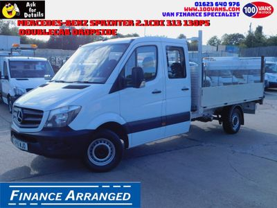 MERCEDES-BENZ SPRINTER Dropside 2.1CDI 313 130PS DOUBLECAB DROPSIDE