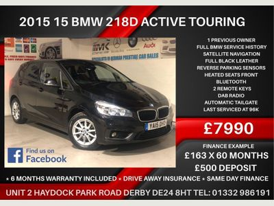 BMW 2 Series Active Tourer MPV 2.0 218d SE Active Tourer Auto (s/s) 5dr