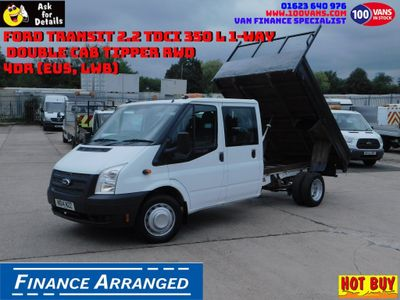 FORD TRANSIT Tipper 2.2 TDCi 350 L3 1-Way Double Cab Tipper RWD 4dr