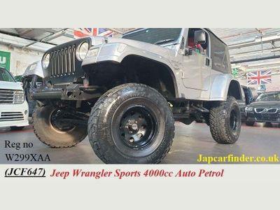 Jeep Wrangler SUV Fully loaded lifted 4000cc auto petrol