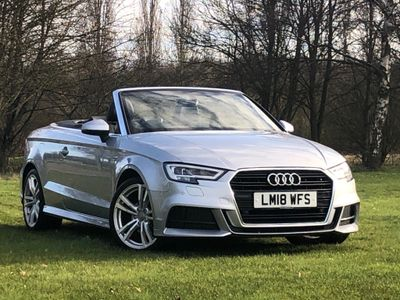 Audi A3 Cabriolet Convertible 1.5 TFSI CoD S line Cabriolet S Tronic (s/s) 2dr