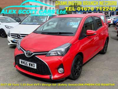 Toyota Yaris Hatchback 1.33 Dual VVT-i Design 5dr (Safety Sense)