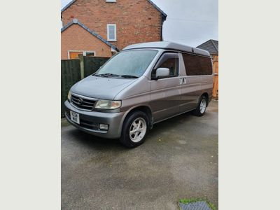 Mazda BONGO JAL MUSHROOM POP TOP ROOF 4 BERTH Motorhome 47 INCH 3 Seater bed 2.5 TD 87K