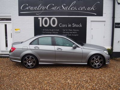 Mercedes-Benz C Class Saloon 2.1 C220 CDI BlueEFFICIENCY AMG Sport Plus 7G-Tronic Plus 4dr (Map Pilot)