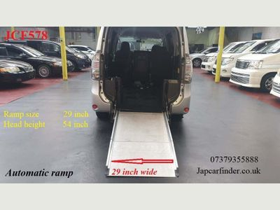 Toyota Voxy Unlisted +4WD+ Auto ramp for mobility +