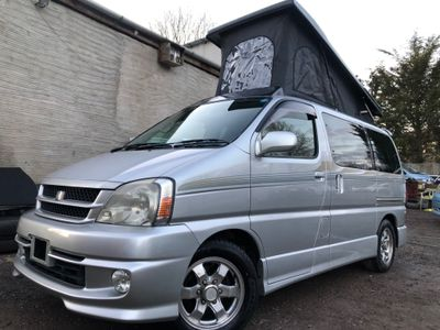 Toyota TOURING HIACE REGIUS Campervan FRESH IMPORT FULL NEWSIDE CONVERSION WIDER BED 32k