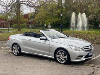 Mercedes-Benz E Class Convertible 2.1 E220 CDI BlueEFFICIENCY Sport Cabriolet G-Tronic 2dr