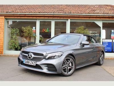 Mercedes-Benz C Class Convertible 2.0 C220d AMG Line (Premium) Cabriolet G-Tronic+ (s/s) 2dr