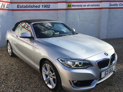 BMW 2 Series Convertible 2.0 220d Luxury Auto (s/s) 2dr