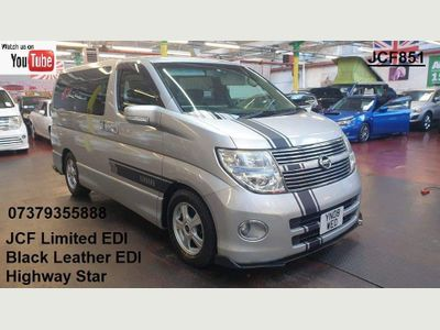 Nissan Elgrand MPV Customised highway Star Leather Recliner