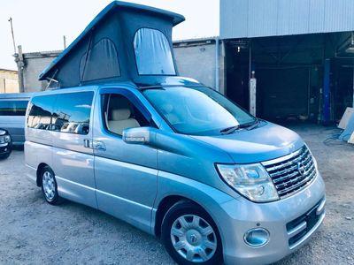 Nissan ELGRAND POP TOP 4 BERTH FULL SIDE CAMPER Campervan CONVERSION 37K 4WD