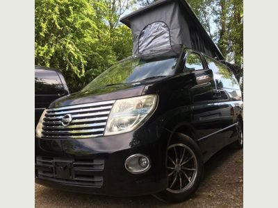 Nissan ELGRAND POP TOP 4 BERTH BRAND NEW SIDE CAMPER Unlisted CONVERSION RUST FREE LOW MILES LPG