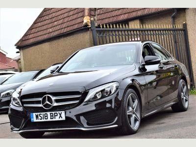 Mercedes-Benz C Class Saloon 2.0 C200 AMG Line G-Tronic+ (s/s) 4dr