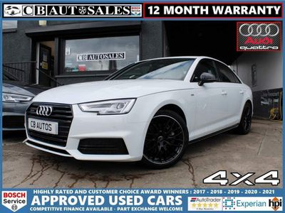 Audi A4 Saloon 2.0 TDI Black Edition S Tronic quattro (s/s) 4dr