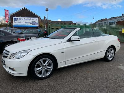 Mercedes-Benz E Class Convertible 2.1 E220 CDI BlueEFFICIENCY SE Edition 125 Cabriolet 7G-Tronic Plus (s/s) 2dr