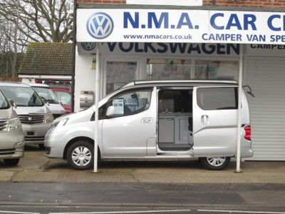 Nissan NV200 Camper campervan side conversion with roof